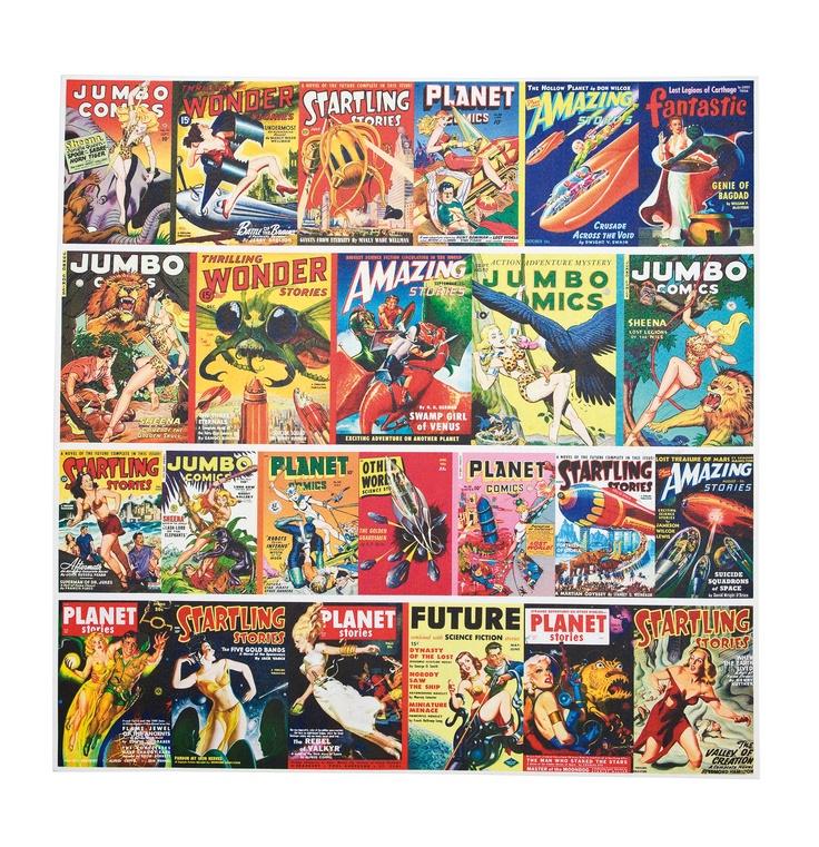 KARE Design Wildbuntes Bild Action Comics bildet lauter Actionhelden ab. Das richtige für Freunde der poppigen Art und grellbunter Comic-Hefte, Farbenfroh und actiongeladen. #KARE #KAREDesign