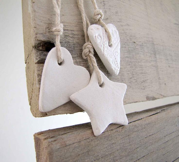 mini mocha: Handmade Christmas - Clay Decorations
