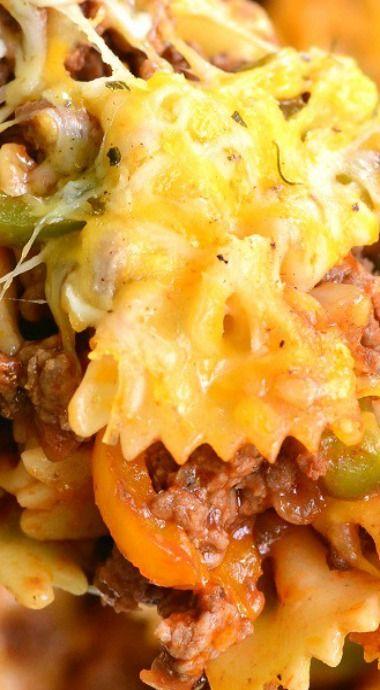 Stuffed Peppers Pasta Casserole ^
