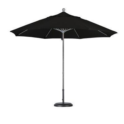 California Umbrella 9 ft. Fiberglass Sunbrella Market Umbrella Sunbrella Forest Green - ALTO908117-5446, Durable