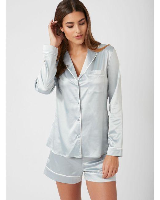 eaef23bf9e Boux Avenue - Blue Rita Satin Short Pyjama Set - Lyst