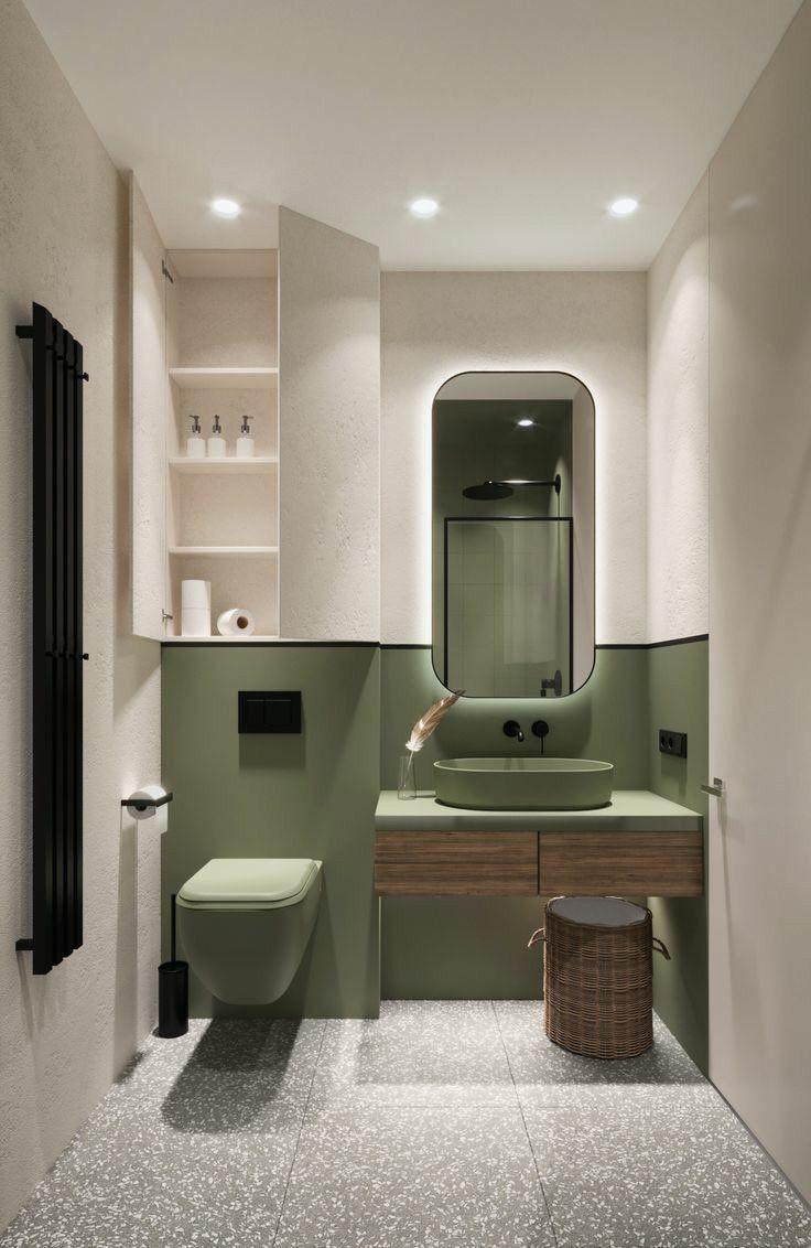 Fitrah Fitrahss Bathroom Design Luxury Bathroom Design Small Bathroom Interior Minimalist green bathroom interior
