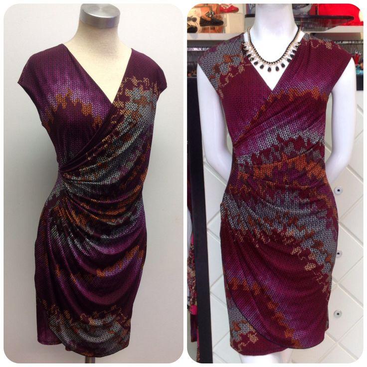 Printed wrap dress at #NICCI