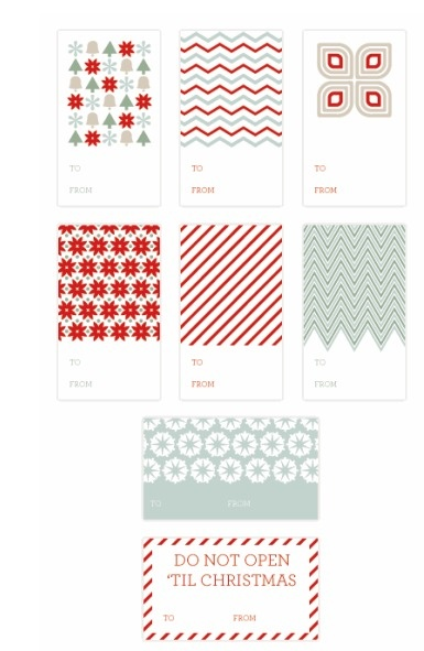 Free Download: 50  Free Gift Tag Printables