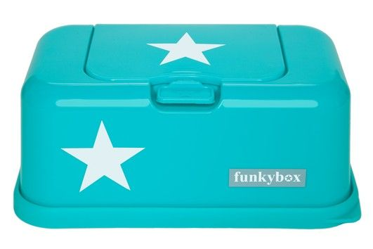 Dispensadores de toalhitas : Funkybox turquesa estrela