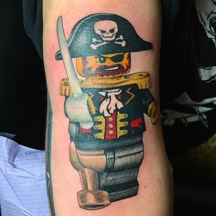 Fun Lego tattoo in progress by Wes Meek (@wesmeek).  To schedule an appointment give us a call at 859-266-4187 or click on the link above!