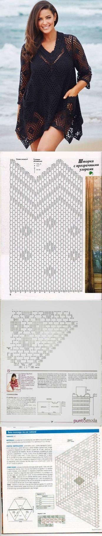 Mejores 174 imágenes de Crochet Clothes en Pinterest | Chaquetas ...