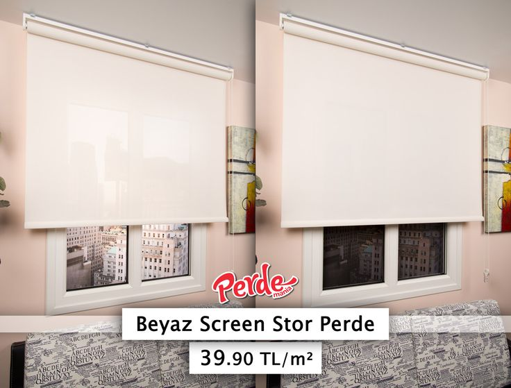 Beyaz Screen Stor Perde  39.90 TL / m² http://goo.gl/8I3Ni8  Screen perdeler güneş kırıcı özelliği ve sade görünümü ile genellikle ofis ortamları için tercih edilir. Manzaranızı kapatmaz.  www.perdemania.com.tr  #screenperde #güneşlik #storperde #perde #beyazperde #sunscreen