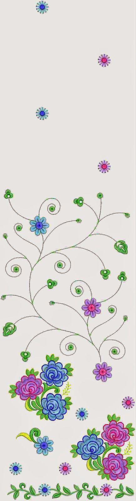 Hand Embroidered Norway Fashion Multi Sari Designs - Embdesigntube