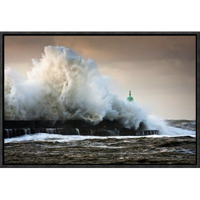 """Global Gallery 'The Wall' by Niels Christian Wulff Framed Photographic Print Size: 20"""" H x 30"""" W x 1.5"""" D"""