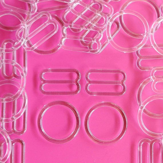"5/8"" (16mm) Clear Plastic Slider & Ring Adjusters"