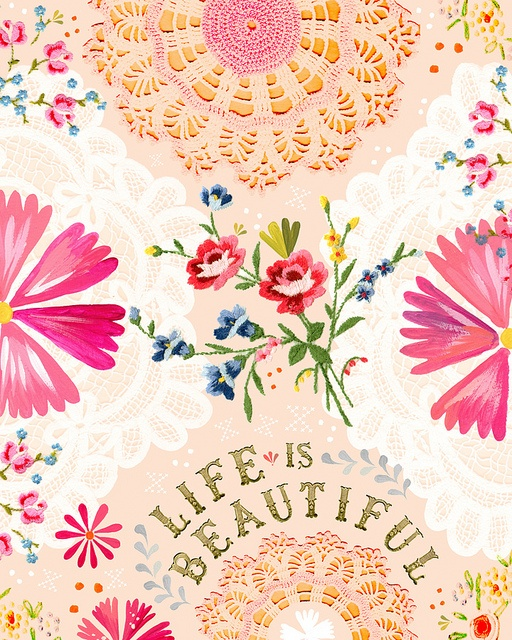 Hankey, Life Is Beautiful, Inspiration, Quotes, Colors Pattern, Katy Daisies, Art,  Hankie, Vintage Embroidery