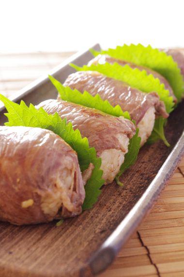 肉巻き巻きおにぎり☆ | 美肌レシピ