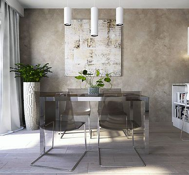beżowa jasna jadalnia  beige dining room interior design ikea green inside