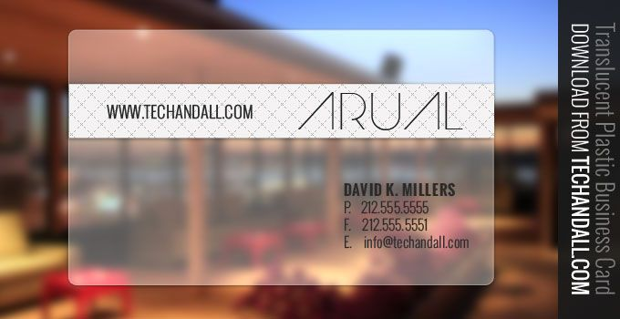 Translucent Plastic Business Card  now seem to be the trend, checkout this templates I just created.  The font Im using for these are called Arual, and Oswald. You can download Arua from here and O...