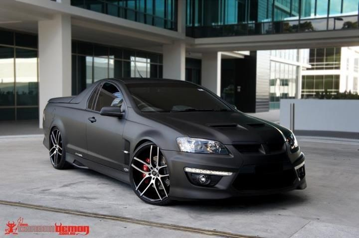 Just died and went to heaven! Matte black HSV Maloo R8