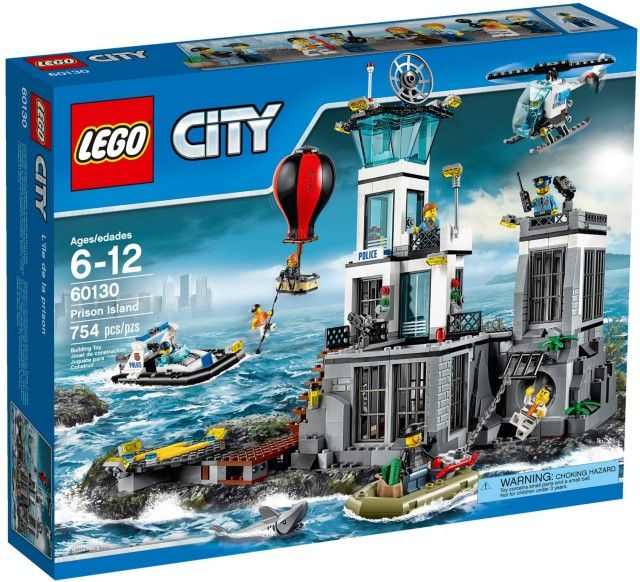 2016 LEGO City Prison Island 60130 Set Box