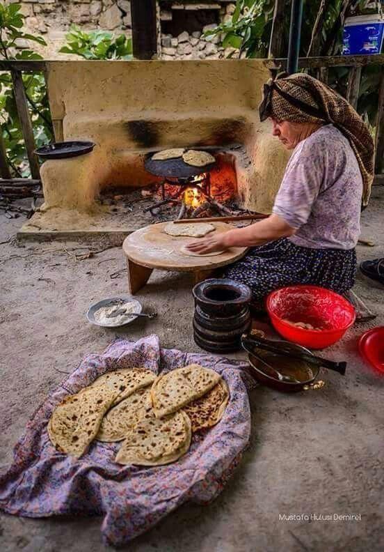 A Turkish woman...