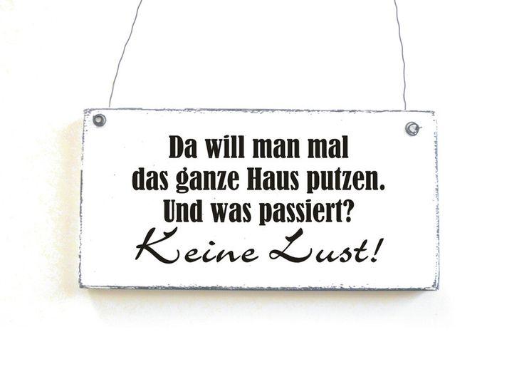 KEIN HAUSPUTZ Dekoschild Holzschild Vintage Shabby von DöRPKIND auf www.doerpkind.de