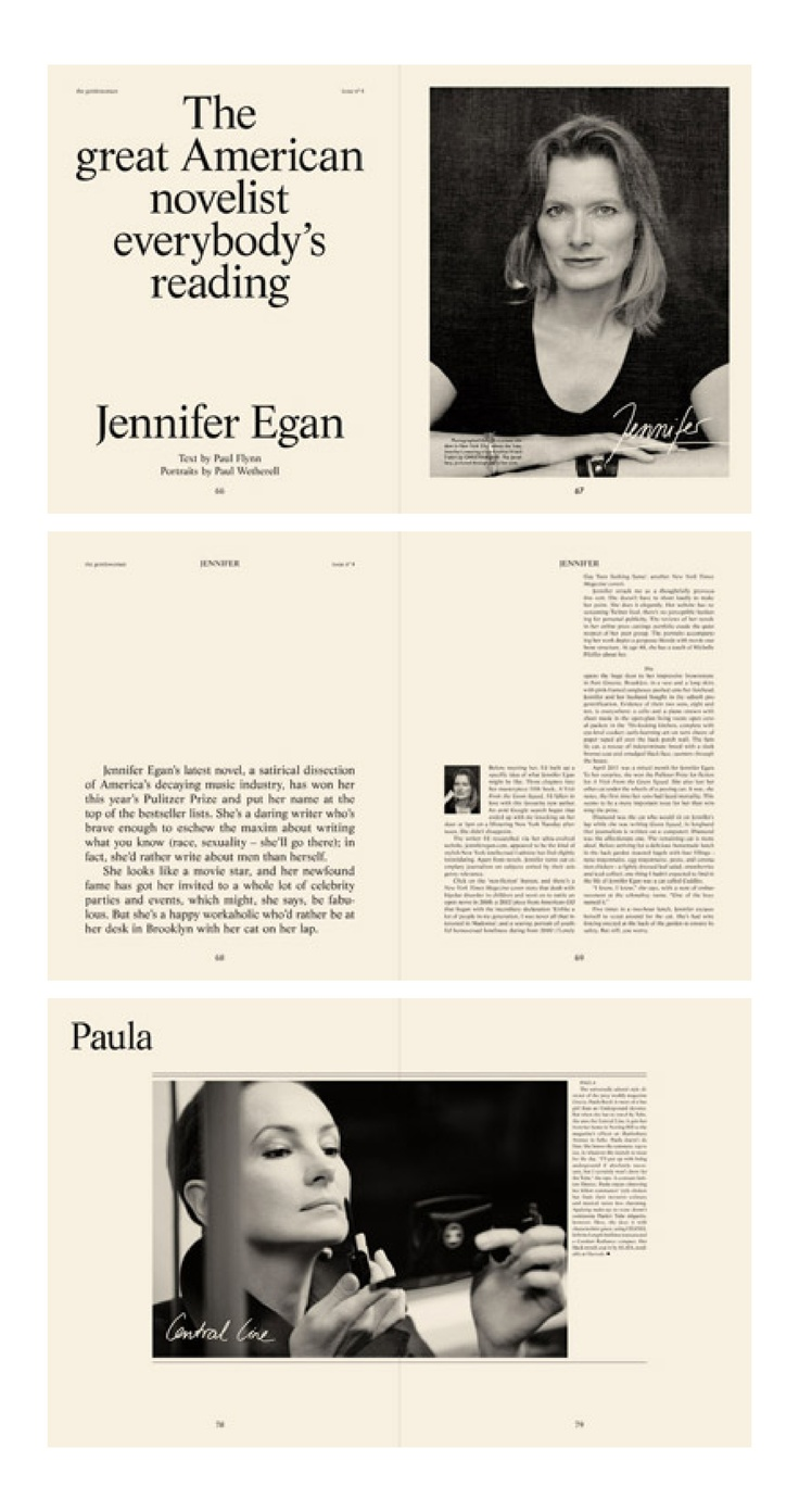 The Gentlewoman using quotes on one page for art direction