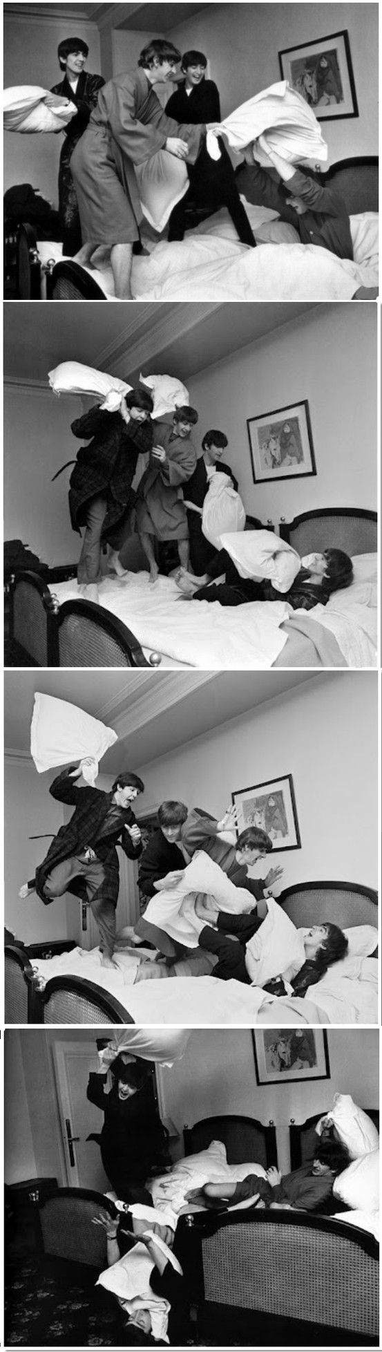 The Beatles...this is from the first movie   *A Hard Days Night**... and all the teen mags too..