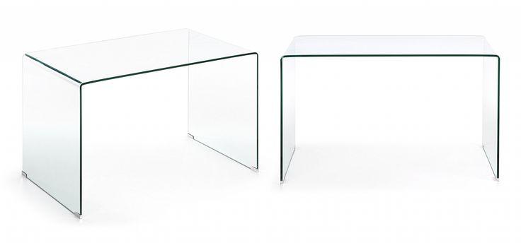 LaForma Glazen Bureau 'Burano', 125 x 70 cm