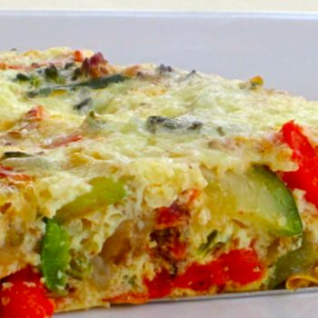 Crustless Vegetable Quiche - I typical make a quiche each weekend to eat throughout the week for breakfast - my quiche is ALWAYS crustless - can't wait to make one with more than broccoli and cheese!
