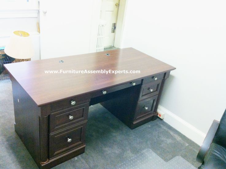 Sauder Executive Office Desk Sold By Office Depot Assembled In