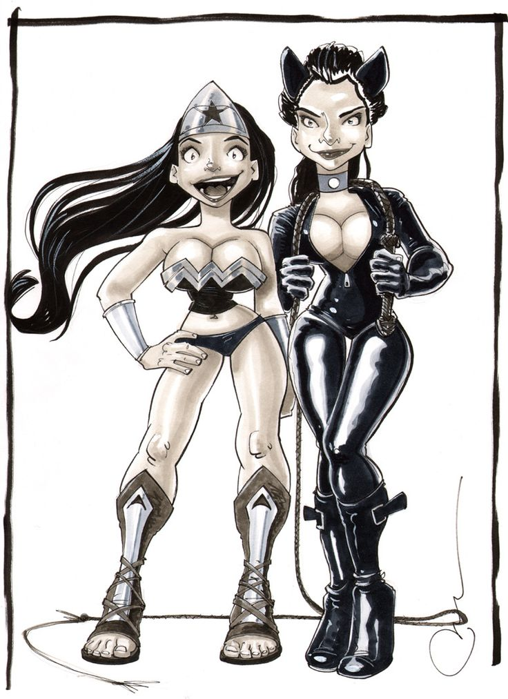 Nat&Marie as illustrated by Paul Taylor. I'm cat woman. Me-yow!