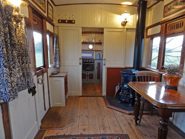 High Cross Camping Coach, Netherbury, Nr. Bridport, Dorset - self catering accommodation - the Saloon