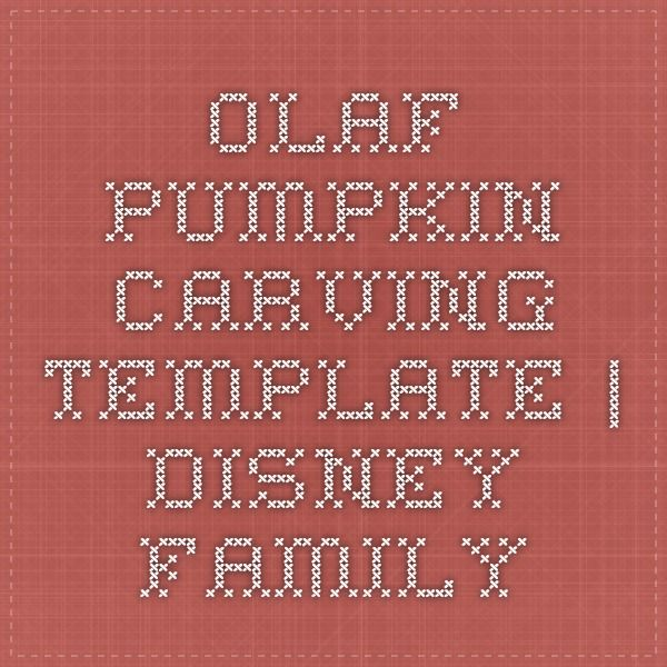 Olaf Pumpkin-Carving Template | Disney Family
