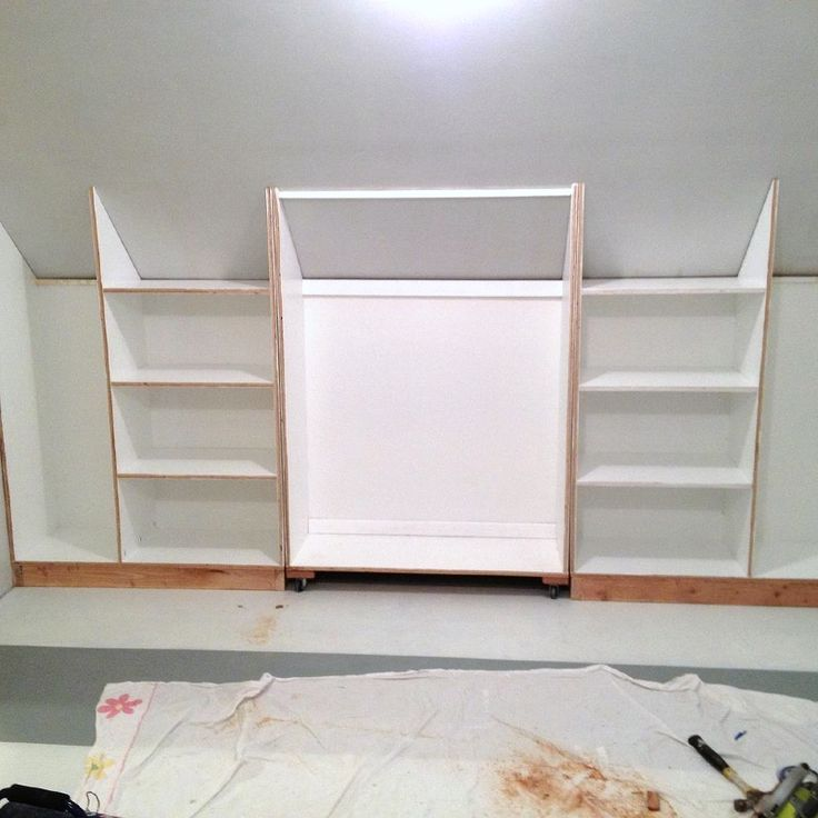 Slanted Wall Built In S With Hidden Storage Storage