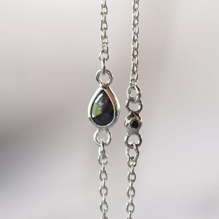 Black Diamond Pear Bracelet