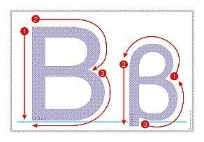 """Εκτύπωση φύλλου δραστηριότηρας με θέμα """"Πώς γράφεται το γράμμα Β,β""""."""
