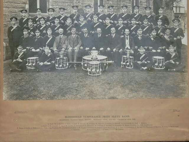 A picture of the old Broomfield Temperance Flute Band