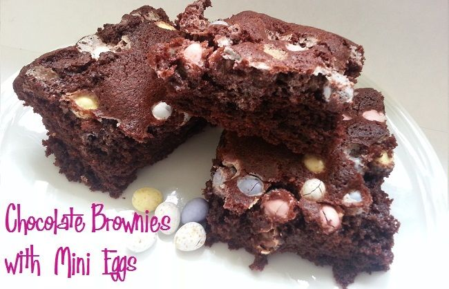 Chocolate Brownie with Mini Eggs #Easter