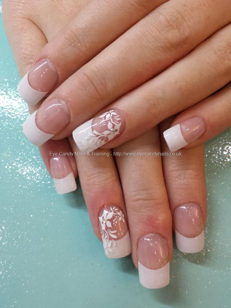 White tips by Nicola, freehand nail art by Elaine Taken at ...