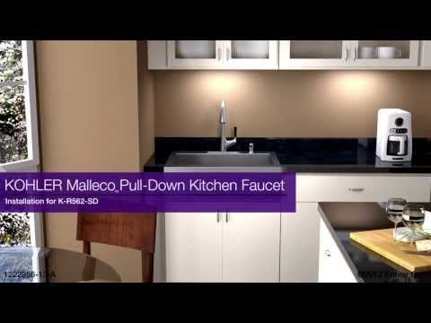 Installation Malleco Pull Down Kitchen Faucet Youtube