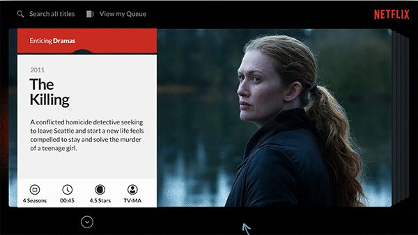 Netflix TV Interface Exploration