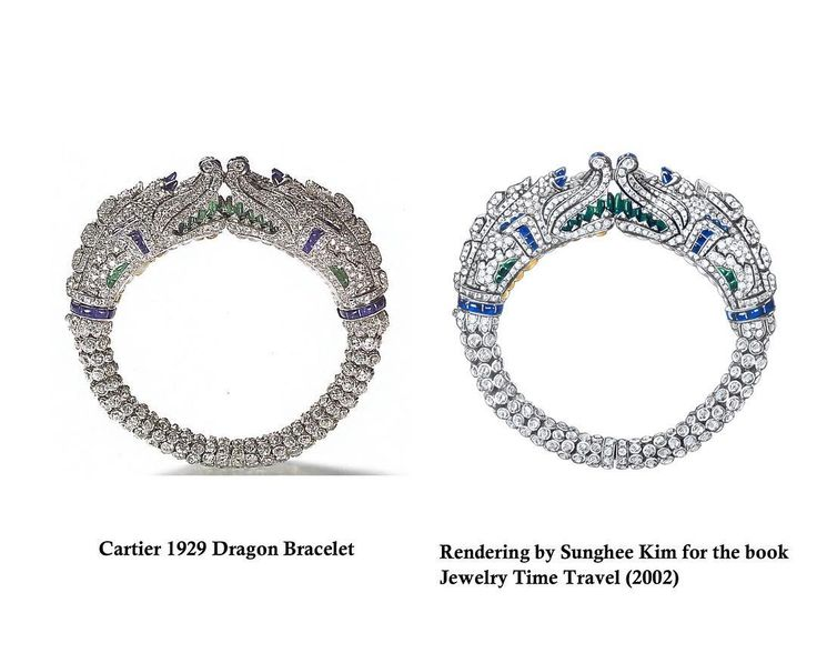 "Sunghee Kim on Instagram: ""Cartier dragon bracelet. Rendering by Sunghee Kim for the book "" Jewelry Time Travel"" 2002. #jewelry #jewelrydesigner #sungheekim #rendering"""