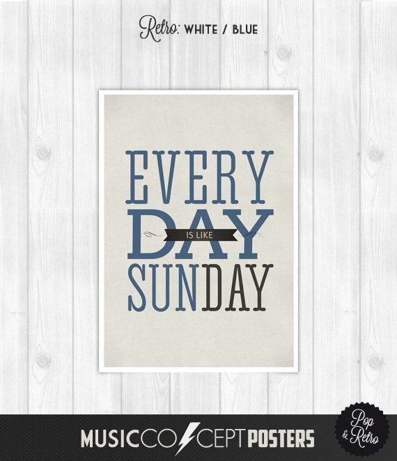Morrissey  Everyday is like sunday  Music by MusicConceptPosters, $22.00