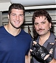 Tim Tebow backsatge at The Rock Of Ages Broadway Musical (May  2012) 5 photos