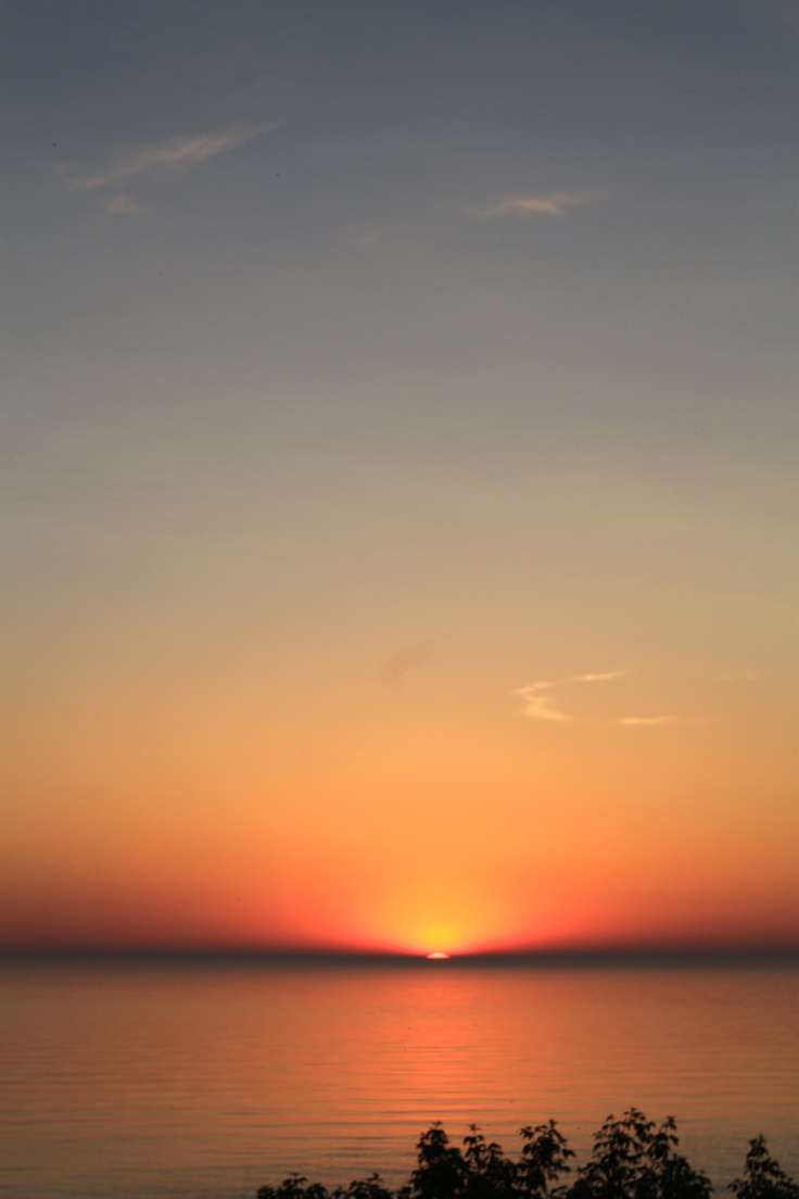 Sunrise over Lake Huron - June 2011 - Lexington, MI
