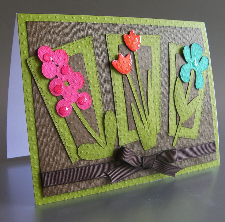 Card Making Ideas Using Punches Part - 35: Walk In My Garden Cricut Cartridge .like The Dark Gray Background With  Bright Colored Flowers . Find This Pin And More On Flower Punch Cards ...