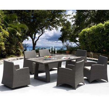 Hampton 7 Piece Patio Dining Collection By Sirio™