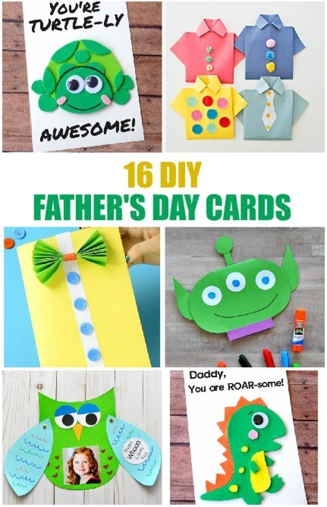 16 Simple Diy Father S Day Cards Homemade At It S Best Kids Fathers Day Crafts Diy Father S Day Cards Father S Day Diy