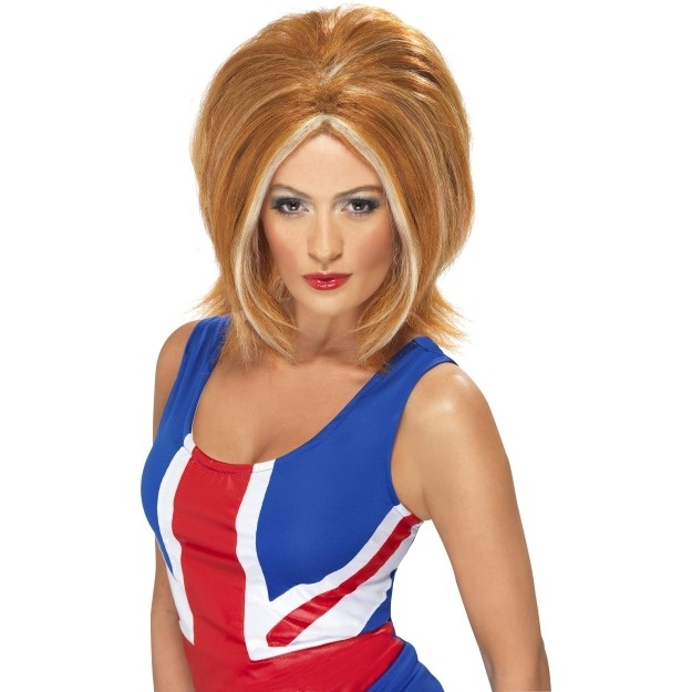 Ladies 90's Ginger Power Fancy Dress Wig 28091 #GingerSpiceFancyDress #GeriHalliwellWigs #Cheap Fancy Dress Costumes and accessories,for all your Fancy Dress come to Party On!