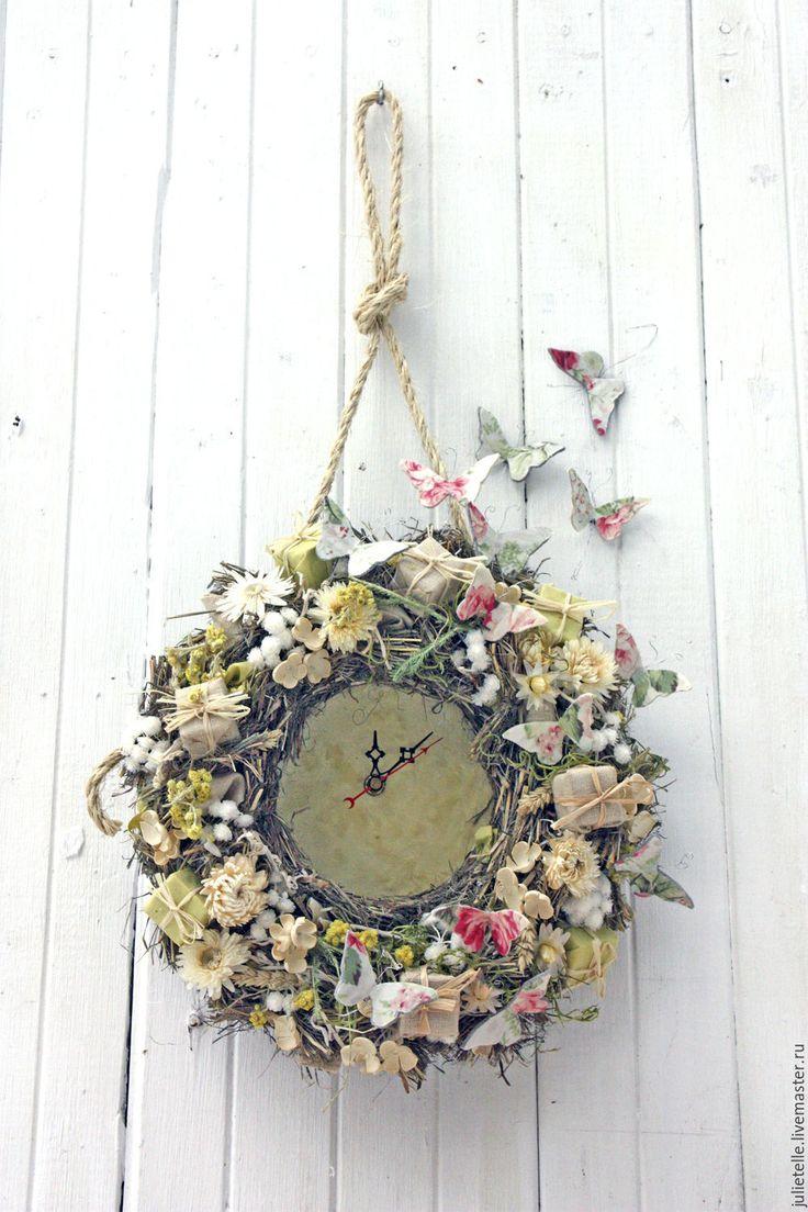 Купить Летние часы - лимонный, оригинальный подарок, оригинальный декор, декор дома, весенний декор