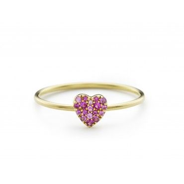 Sapphire Heart Ring by Loquet, Designer Fine Rings Jewellery, Kabiri Jewellery Store Online