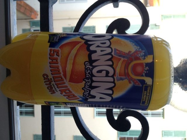 Orangina on the Go for the hot days at Nice